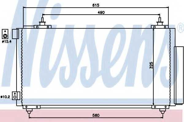 Конденсатор кондиционера NISSENS 94740 - изображение