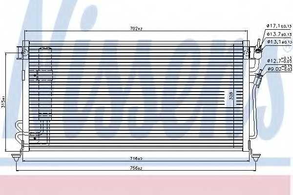Конденсатор кондиционера NISSENS 94748 - изображение