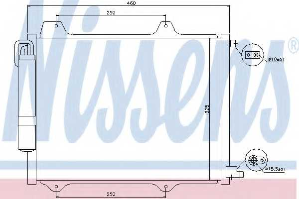 Конденсатор кондиционера NISSENS 94754 - изображение