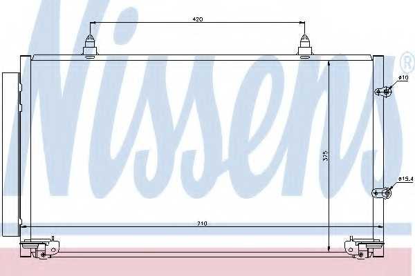 Конденсатор кондиционера NISSENS 94757 - изображение