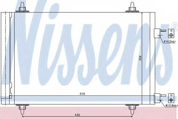 Конденсатор кондиционера NISSENS 94758 - изображение