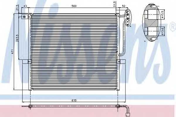 Конденсатор кондиционера NISSENS 94761 - изображение