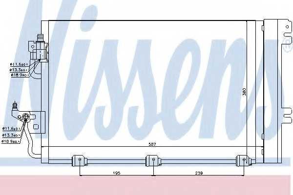 Конденсатор кондиционера NISSENS 94767 - изображение