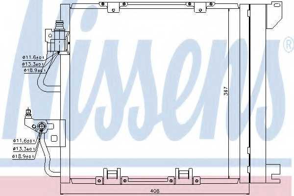 Конденсатор кондиционера NISSENS 94768 - изображение