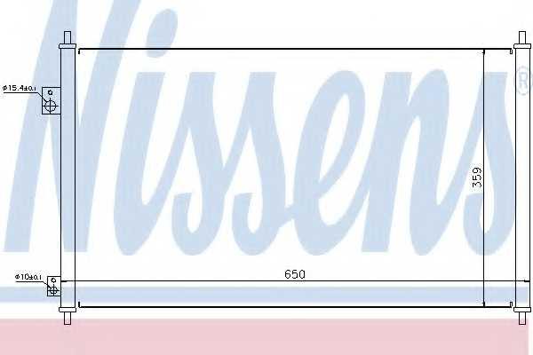 Конденсатор кондиционера NISSENS 94771 - изображение