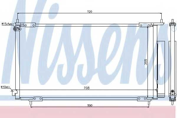 Конденсатор кондиционера NISSENS 94772 - изображение