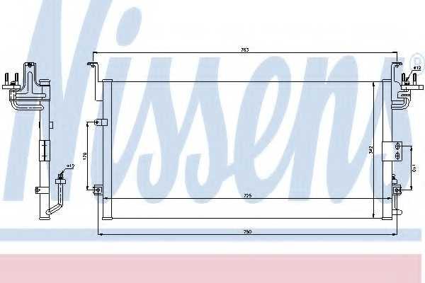 Конденсатор кондиционера NISSENS 94775 - изображение