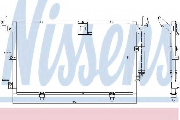 Конденсатор кондиционера NISSENS 94789 - изображение