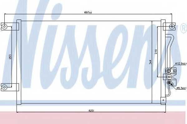 Конденсатор кондиционера NISSENS 94790 - изображение