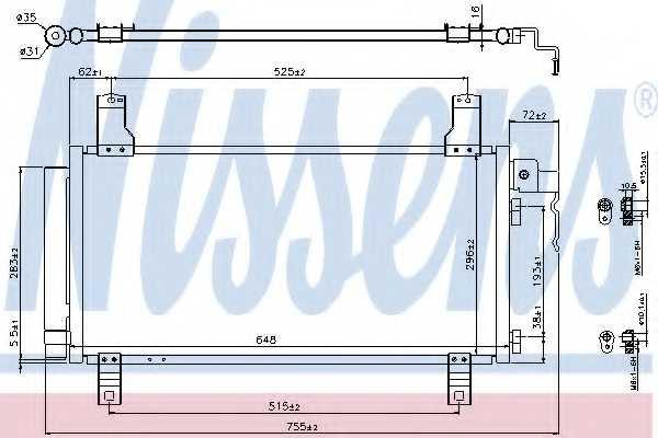 Конденсатор кондиционера NISSENS 94792 - изображение