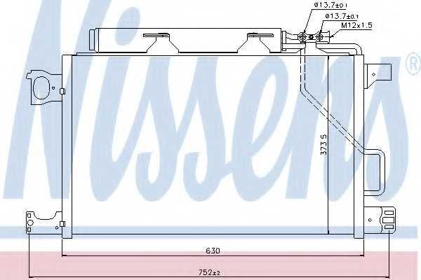 Конденсатор кондиционера NISSENS 94794 - изображение