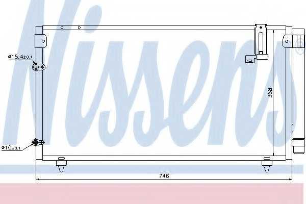 Конденсатор кондиционера NISSENS 94795 - изображение