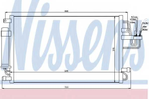Конденсатор кондиционера NISSENS 94801 - изображение