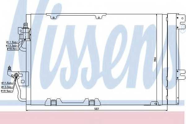 Конденсатор кондиционера NISSENS 94807 - изображение