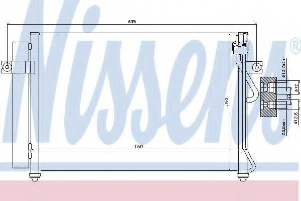 Конденсатор кондиционера NISSENS 94815 - изображение