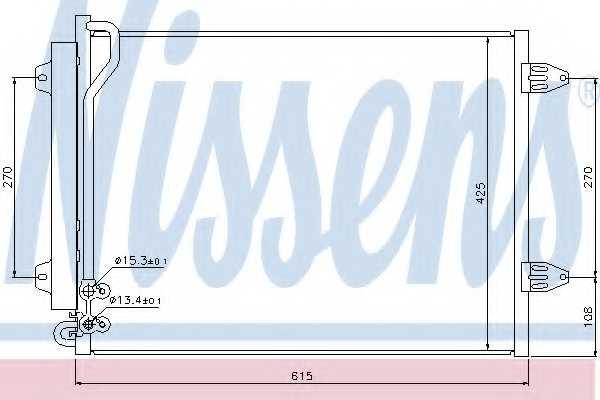 Конденсатор кондиционера NISSENS 94831 - изображение