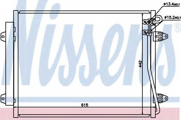 Конденсатор кондиционера NISSENS 94832 - изображение