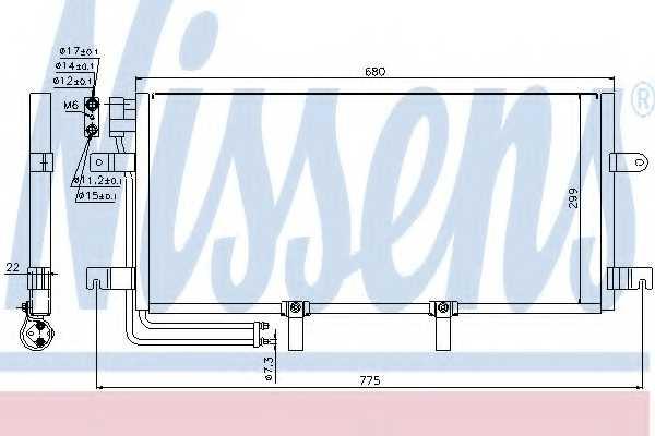 Конденсатор кондиционера NISSENS 94834 - изображение