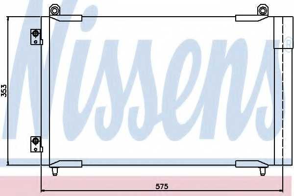 Конденсатор кондиционера NISSENS 94837 - изображение