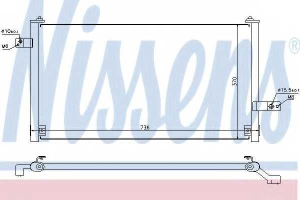 Конденсатор кондиционера NISSENS 94847 - изображение
