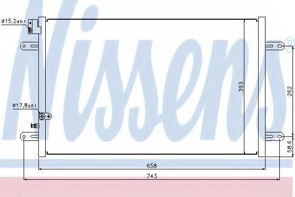 Конденсатор кондиционера NISSENS 94854 - изображение