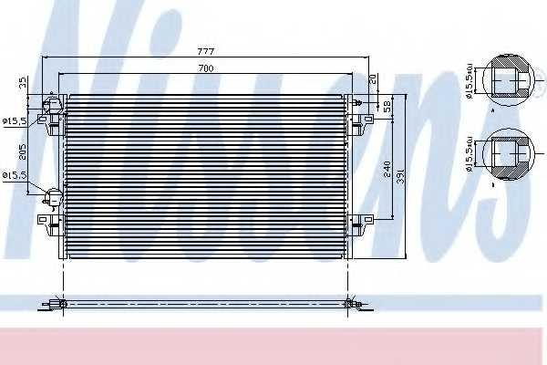 Конденсатор кондиционера NISSENS 94856 - изображение