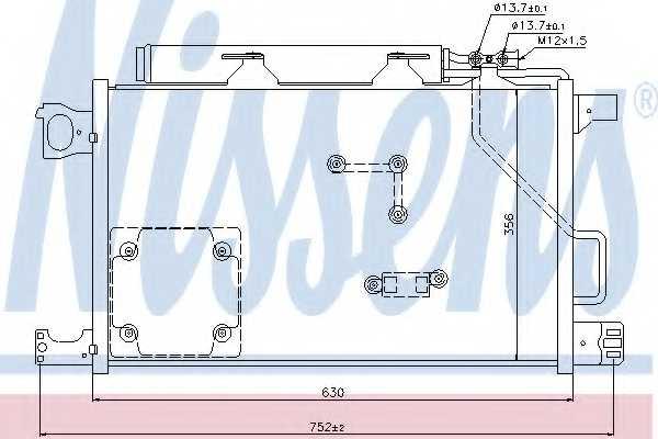 Конденсатор кондиционера NISSENS 94857 - изображение