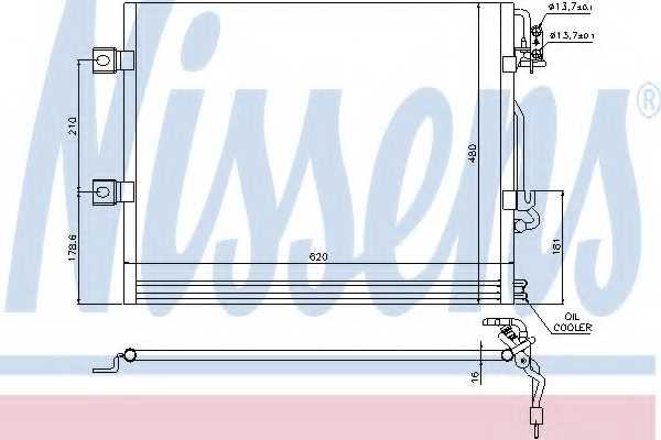 Конденсатор кондиционера NISSENS 94858 - изображение