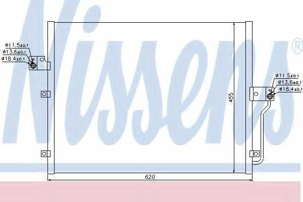 Конденсатор кондиционера NISSENS 94859 - изображение