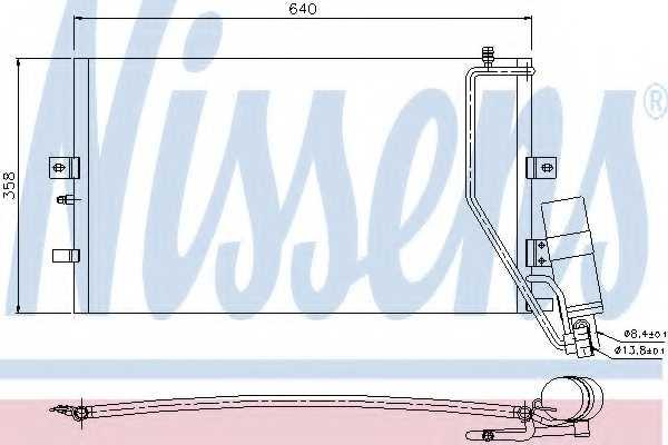 Конденсатор кондиционера NISSENS 94862 - изображение