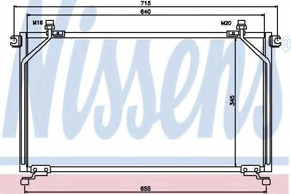 Конденсатор кондиционера NISSENS 94863 - изображение