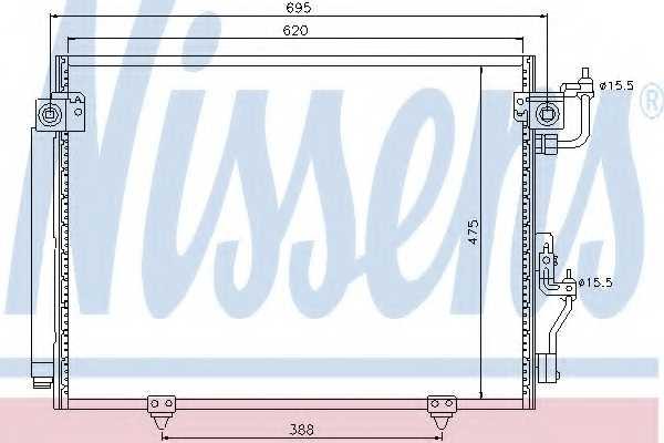 Конденсатор кондиционера NISSENS 94864 - изображение