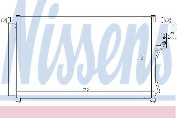Конденсатор кондиционера NISSENS 94869 - изображение