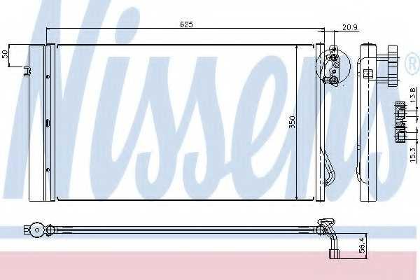 Конденсатор кондиционера NISSENS 94873 - изображение