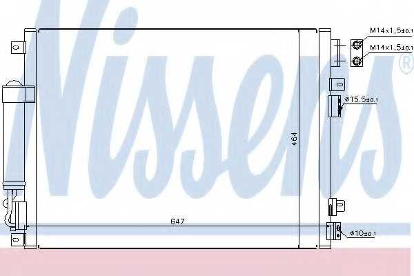 Конденсатор кондиционера NISSENS 94874 - изображение