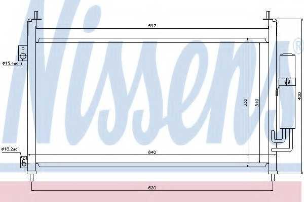 Конденсатор кондиционера NISSENS 94875 - изображение