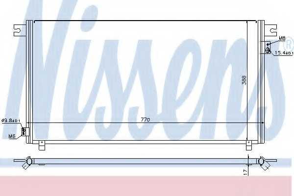 Конденсатор кондиционера NISSENS 94878 - изображение