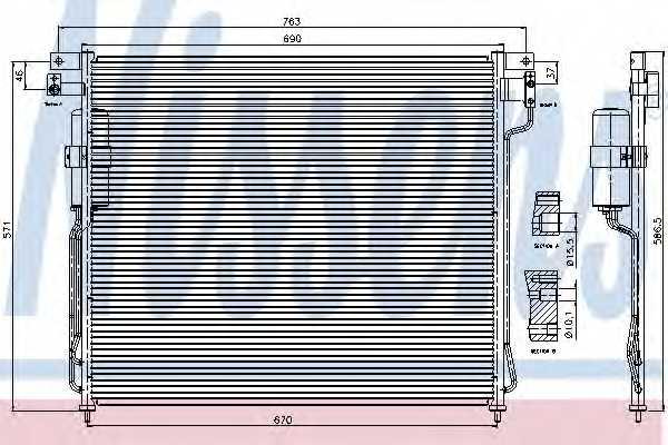 Конденсатор кондиционера NISSENS 94879 - изображение
