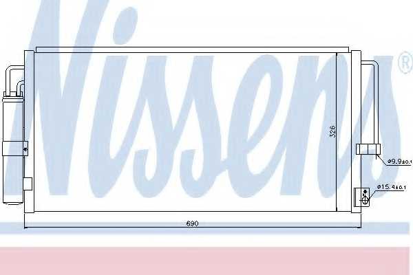 Конденсатор кондиционера NISSENS 94884 - изображение