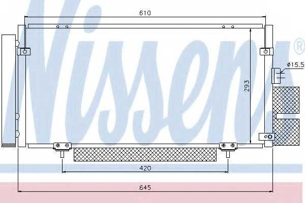 Конденсатор кондиционера NISSENS 94885 - изображение