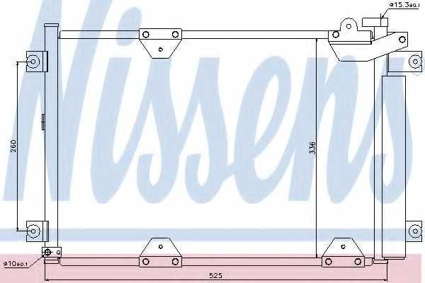 Конденсатор кондиционера NISSENS 94892 - изображение