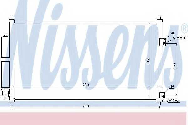 Конденсатор кондиционера NISSENS 94893 - изображение