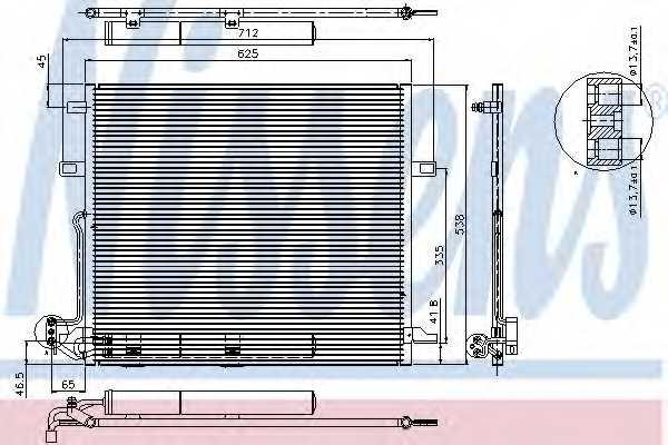 Конденсатор кондиционера NISSENS 94897 - изображение