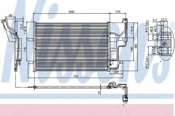 Конденсатор кондиционера NISSENS 94902 - изображение