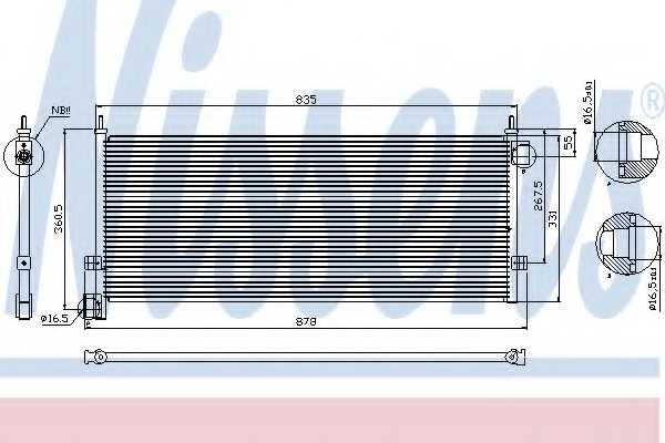 Конденсатор кондиционера NISSENS 94903 - изображение