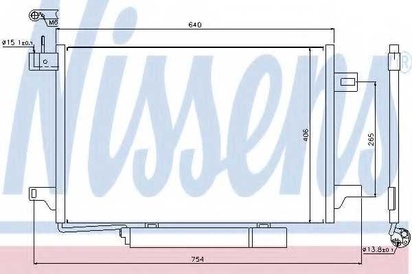 Конденсатор кондиционера NISSENS 94910 - изображение