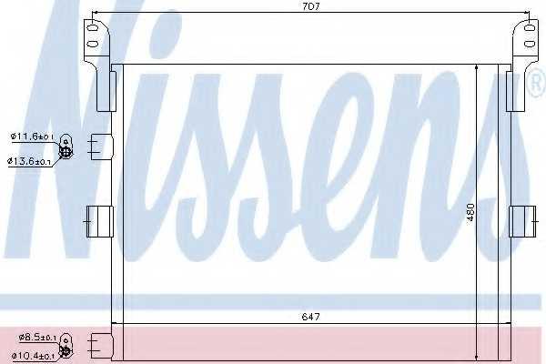 Конденсатор кондиционера NISSENS 94918 - изображение