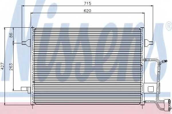 Конденсатор кондиционера NISSENS 94922 - изображение