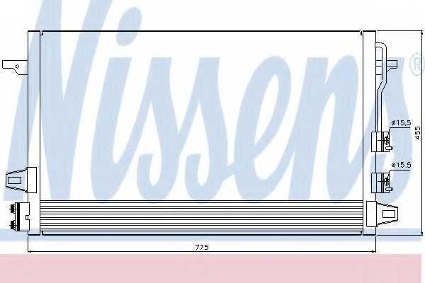 Конденсатор кондиционера NISSENS 94929 - изображение