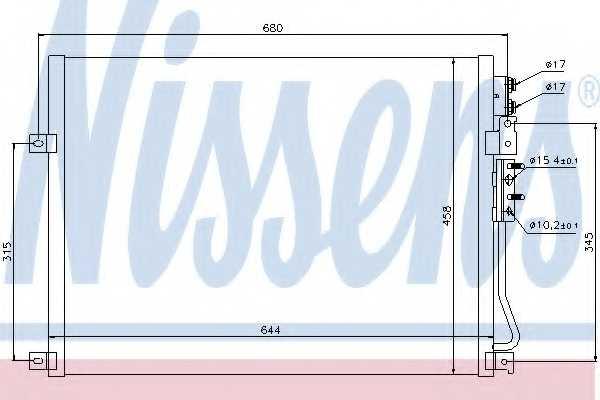 Конденсатор кондиционера NISSENS 94931 - изображение